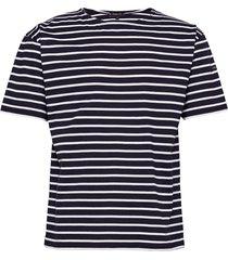 breton striped shirt théviec t-shirts short-sleeved blå armor lux