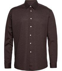 polo shirt - long sleeved overhemd casual bruin eton