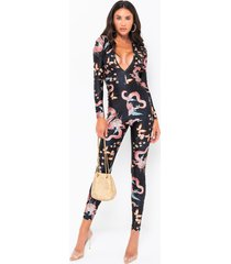 akira rush to the head dragon print jumpsuit