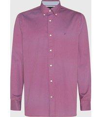 camisa tommy hilfiger geo floral print shirt rojo - calce regular