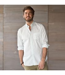 kennington squares print shirt