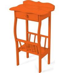 mesa lateral apoio sala revisteiro laranja - laranja - dafiti