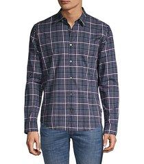 checkered long-sleeve shirt