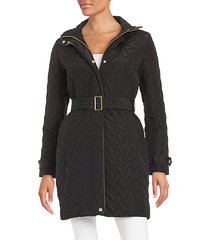 essential belted quilted coat