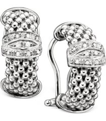 sterling silver earrings, diamond mesh (1/5 ct. t.w.)