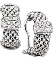 sterling silver earrings, diamond mesh (1/5 ct. t.w.)