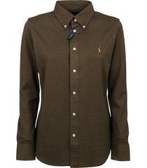 military green cotton shirt