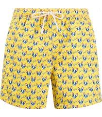 mc2 saint barth bulldog bone swim shorts - yellow