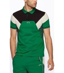 boss men's cotton-pique slim-fit polo shirt