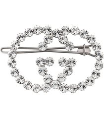 gucci gg crystal hair clip - metallic