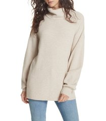 women's free people softly structured knit tunic, size small - ivory