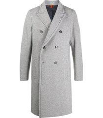barena double-breasted midi coat - grey