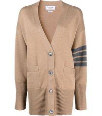 oversized wool v-neck cardigan, camel