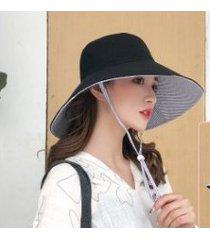 nuevo protector solar para mujer, sombrero para el sol negro
