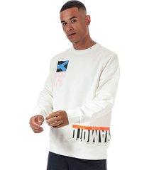 mens multi cut graphic crew sweatshirt