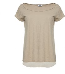 tiffany tiffany t-shirt m/silkerygg brun