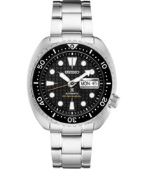 seiko men's automatic prospex king turtle stainless steel bracelet watch 45mm