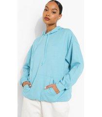basic oversized hoodie, turquoise