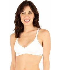 sutiã top redutor branco - 532.0111 marcyn lingerie cobertura total branco