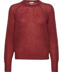 mohair r-neck sweater gebreide trui rood filippa k