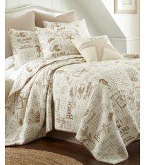 levtex home beach life taupe full/queen quilt set