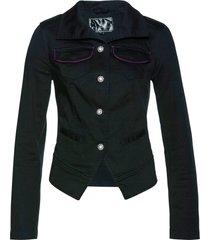 giacca in canvas con bottoni gioiello (nero) - bpc selection
