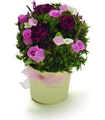 centro de mesa bouquet vaso red com botãµes de rosa rosa vermelho - vermelho - dafiti
