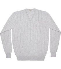 maglione da uomo, linsieme, 100% lana grigio chiaro, autunno inverno | lanieri