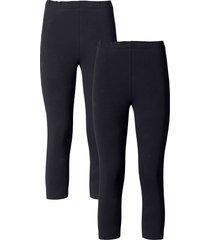 leggings a pinocchietto (pacco da 2) (nero) - bodyflirt