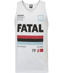 camiseta regata fatal estampada 25673 - masculina - branco