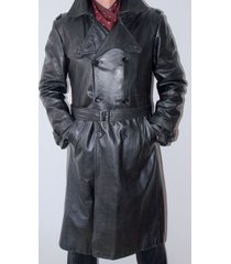 men leather coat winter long  leather coat genuine real leather trench coat-uk-8