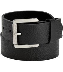 tommy hilfiger men's knarled buckle leather belt