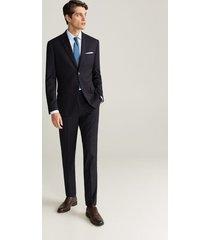 gestructureerd tailored slim-fit overhemd