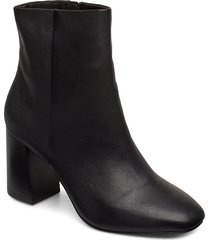 biabrita leather boot shoes boots ankle boots ankle boots with heel svart bianco