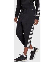 pantalón adidas performance w fi 3s 78pnt negro - calce holgado