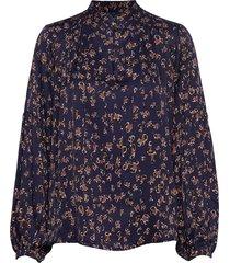 habit blouse lange mouwen blauw munthe