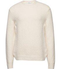 m. matthew sweater gebreide trui met ronde kraag crème filippa k
