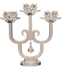 castiçal de cristal bergen – 3 velas