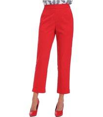 pantalón clásico oficina rojo nicopoly
