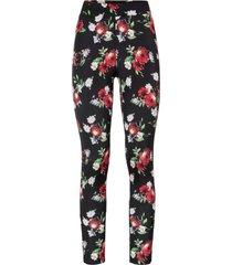 leggings a fiori (nero) - bodyflirt boutique
