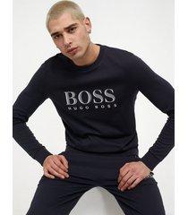 boss tracksuit sweatshirt tröjor dark blue