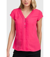blusa ash lisa fucsia - calce regular