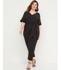 lane bryant women's lena dolman-sleeve jumpsuit 18 black