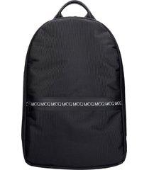 mcq alexander mcqueen backpack in black polyamide