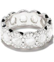 david morris 18kt white gold diamond rose cut full eternity ring