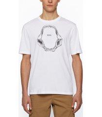 boss men's jaw-print relaxed-fit t-shirt