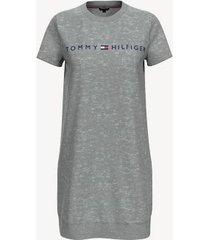 tommy hilfiger women's essential logo t-shirt dress grey heather - m