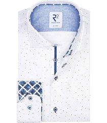 mouwlengte 7 overhemd wit gestipt r2
