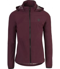 agu regenjas go jacket wine red-xxl
