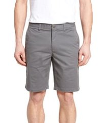 men's bonobos stretch washed chino 9-inch shorts, size 34 - grey
